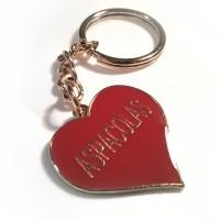 Llavero personalizado con forma de corazón.