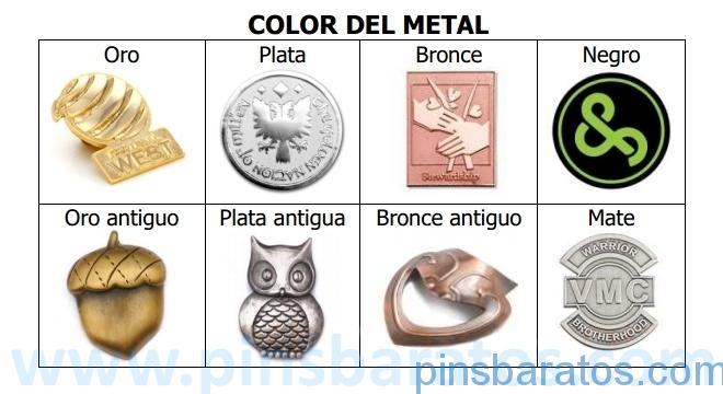 Acabados del metal de nuestros pin personalizados.