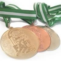 Medallas personalizadas competición deportiva.