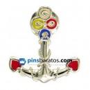 pin ancla plata
