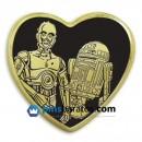 pin corazon dorado
