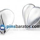 pin plata corazon