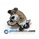 Pins de metal negro - oso