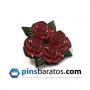 Pins de metal negro - rosas