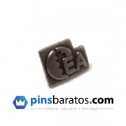 Pins de metal negro - logo de empresa