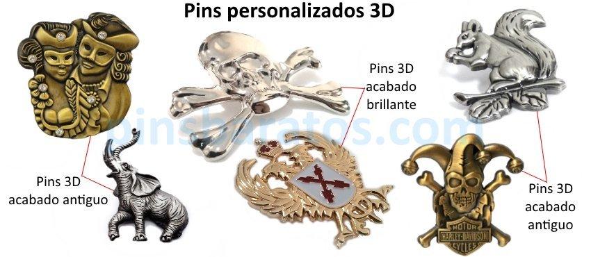 Pins personalizados con relieves 3D