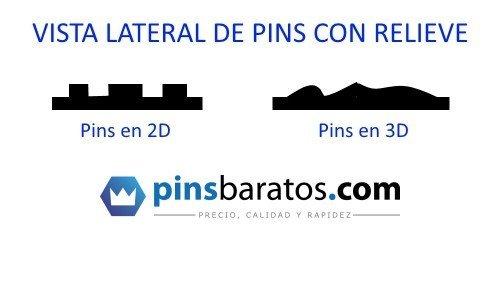 Diferencias entre pins 2D y pins 3D.
