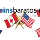 pins de banderas cruzadas