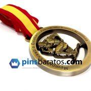Medalla de campeonato de culturismo, en acabado oro antiguo.
