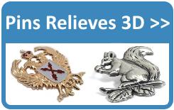 Fabricantes de pins 3D.