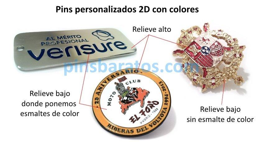 Pins personalizados con colores
