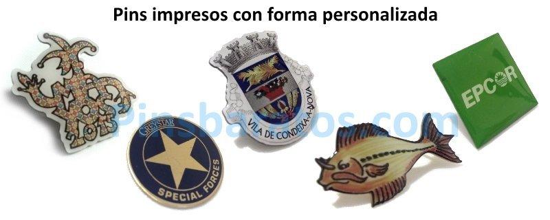 Pins impresos personalizados con logo de empresa