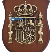 Metopa personalizada con el logo de España en metal.