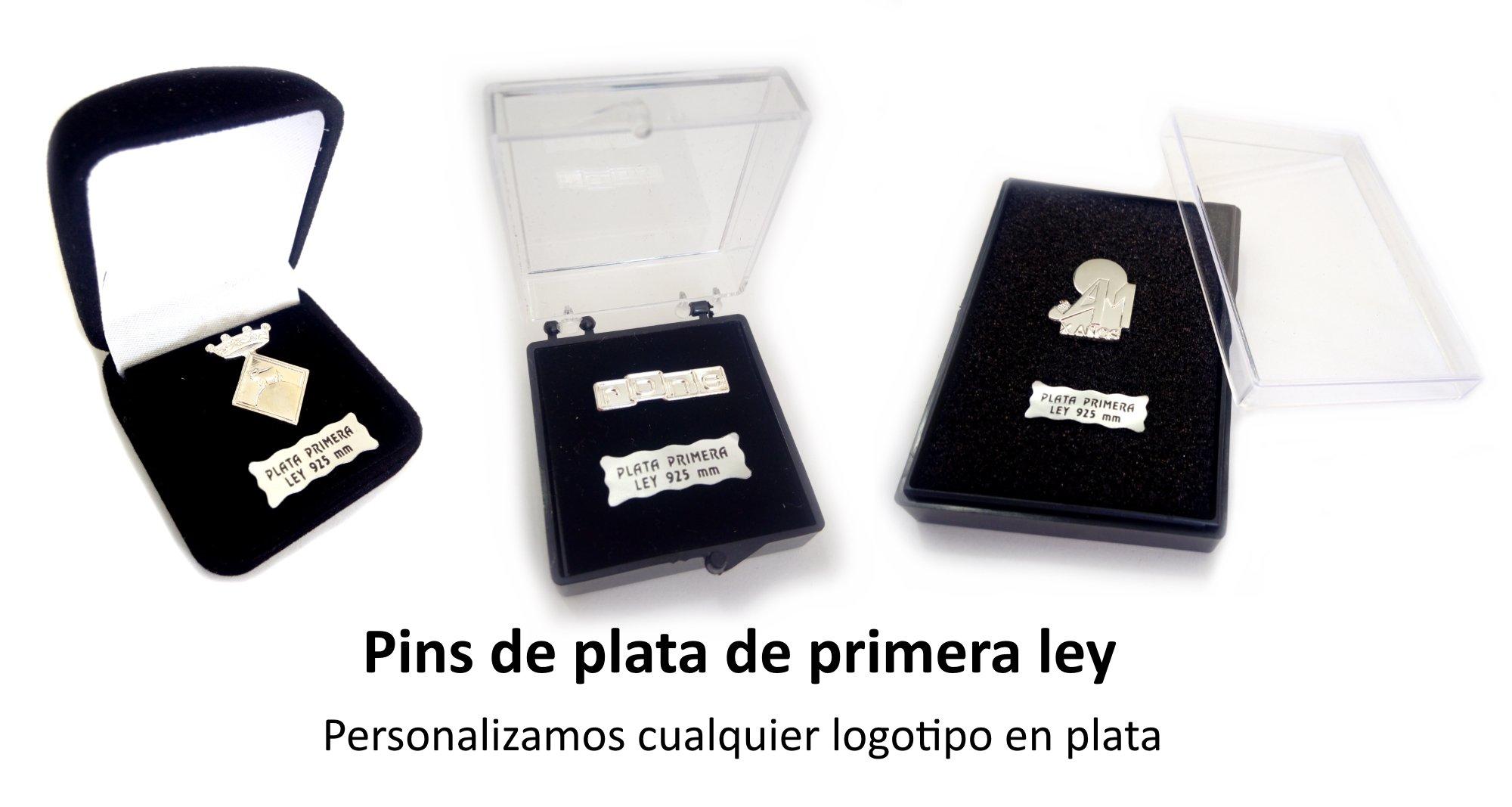 Pins de plata. Utilizamos plata de primera ley para fabricar nuestros pins personalizados de plata.