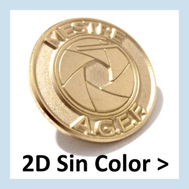 Pins personalizados metálicos sin color, con su logo.