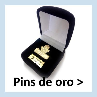 Pins de oro personalizados