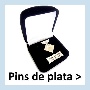 Fabricantes de Pins de plata personalizados con entrega en Madrid.
