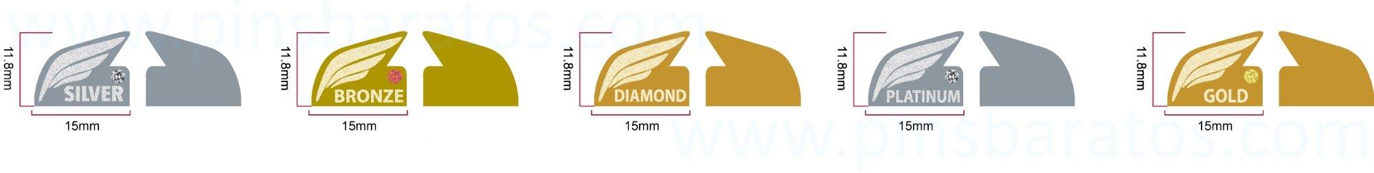 Diseño para poder producir pins de oro